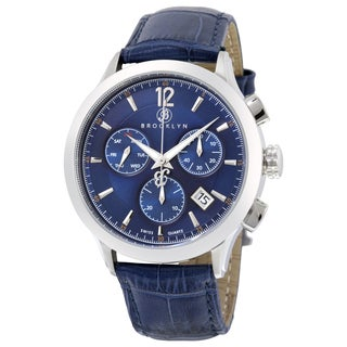 Brooklyn Watch Co. Dakota Men's Stainless Steel Blue Dial Quartz Watch