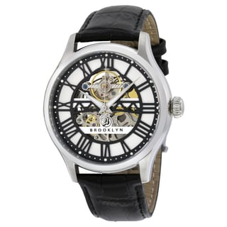 Brooklyn Watch Co. Bridgewater Skeleton Automatic Silver Dial Watch