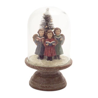 Brown Glass-covered LED Singing Children Dome