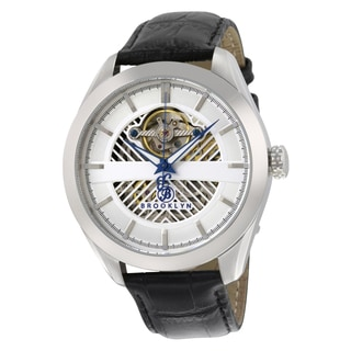 Brooklyn Watch Co. Pierrepont Skeleton Automatic Silver Dial Watch