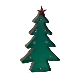 Green Metal LED Christmas Tree Marquee