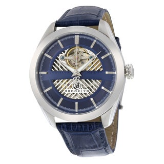 Brooklyn Watch Co. Pierrepont Skeleton Automatic Blue Dial Watch