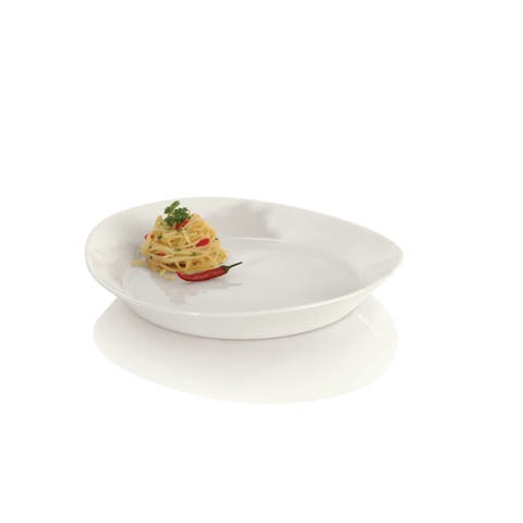 Eclipse White Porcelain 10-inch Pasta Plate (Pack of 4)