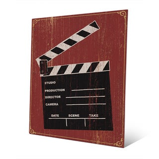 Multicolored Metal Clapperboard Wall Art