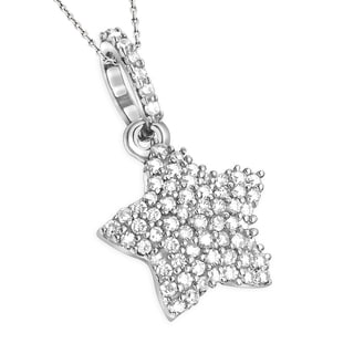 Luxurman 14k Gold 1/6ct TDW Diamond Small Star Pendant (H-I, I1-I2)