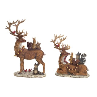 Deer with Woodland Friends (Set of 2)