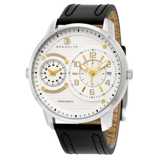 Brooklyn Men's Willoughby Silver Dial Dual-time Watch
