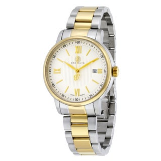 Brooklyn Watch Co. Livingston Classic Goldtone/ Silvertone Stainless Steel Swiss Watch