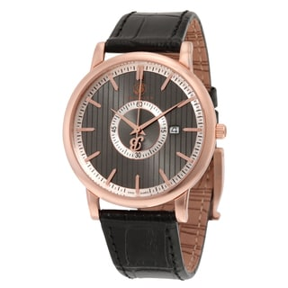 Brooklyn Watch Co. Myrtle II Men's Grey Classic Watch with Leather Strap