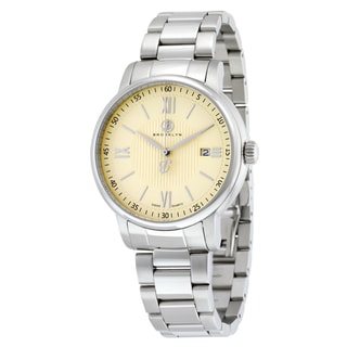 Livingston Classic Men's Silver/Ivory Stainless Steel Quartz Watch