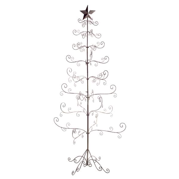 Wire Christmas Tree.Silver Colored Metal Antique Wire Christmas Tree