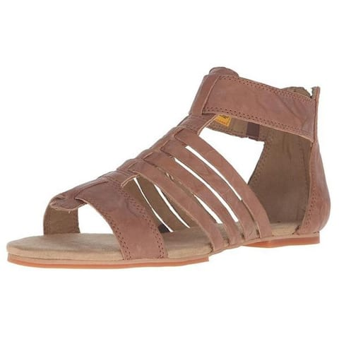 Cat by Caterpillar Womens Tanga Brown Leather Gladiator Sandals