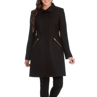 Via Spiga Women's Black Wool Coat