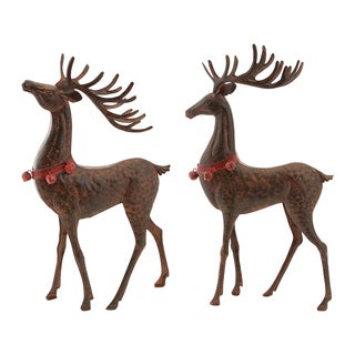 Reindeer with Bell Collar (Set of 2)