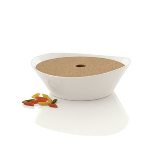 BergHOFF Eclipse White Porcelain 11-inch Covered Pasta Bowl