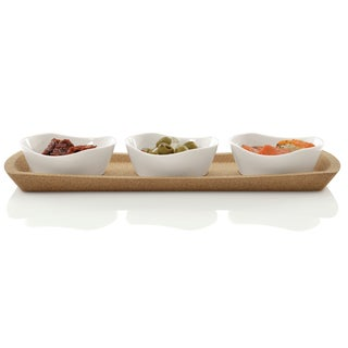 BergHOFF Eclipse White Porcelain Snack Bowl Set (Pack of 4)