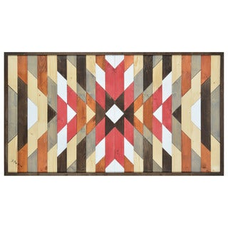 Shoshone' Multicolored Wood Unframed Wall Decor