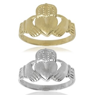 Men's 14k Gold Claddagh Celtic Band Ring