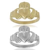 Men's 14k Gold Claddagh Celtic Band Ring
