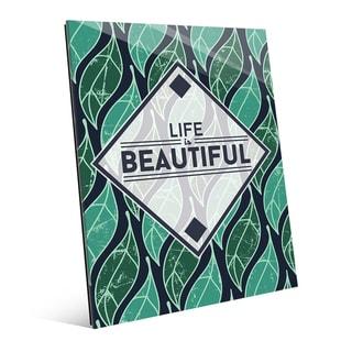 Life is Beautiful' Main Leaf Acrylic Wall Art