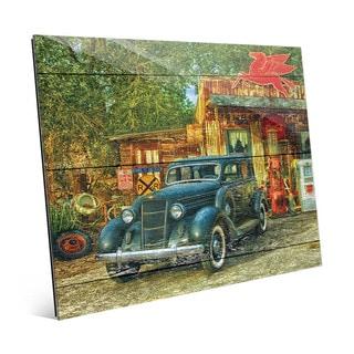 Vintage Fuel Station' Acrylic Wall Art