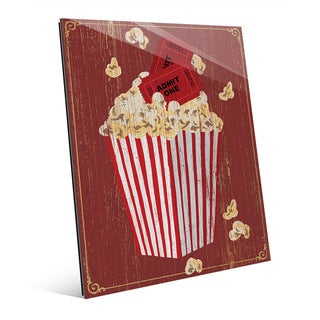 Popcorn with Admission' Acrylic Wall Art (More options available)