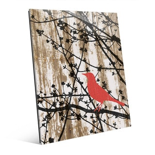 Woods Silhouette 'Red Bird' Acrylic Wall Art
