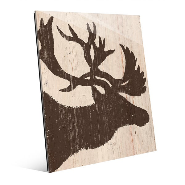 Brown Moose Silhouette' Acrylic Wall Art