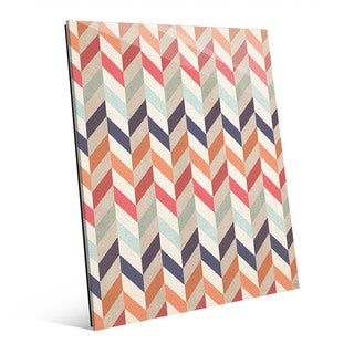 Autumn Chevron Pattern Acrylic Wall Art