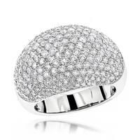 Luxurman 14k Gold 3 1/2ct TDW Designer Pave Diamond Ring