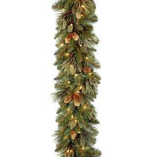 Carolina Pine 9-foot Garland with Clear Lights