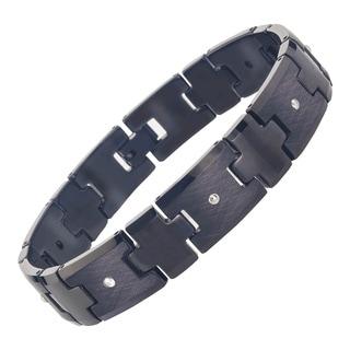 Men's Black Tungsten Diamond Bracelet By Ever One