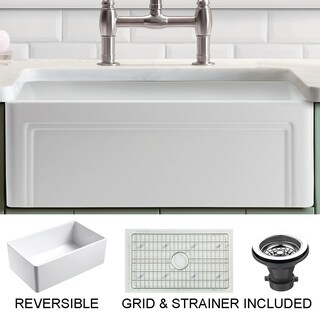 Olde London 30 in. Single Bowl Reversible Fireclay Farmhouse Kitchen Sink with Grid|https://ak1.ostkcdn.com/images/products/12797298/P19568133.jpg?_ostk_perf_=percv&impolicy=medium