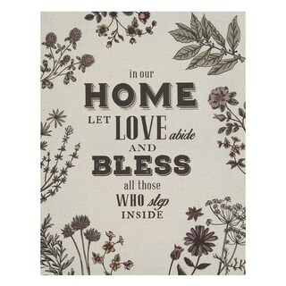 Stratton Home Decor 'In Our Home' Linen Canvas Wall Art
