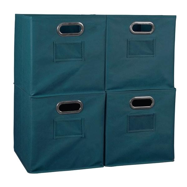 Niche Cubo Foldable Fabric Storage Bin   Teal