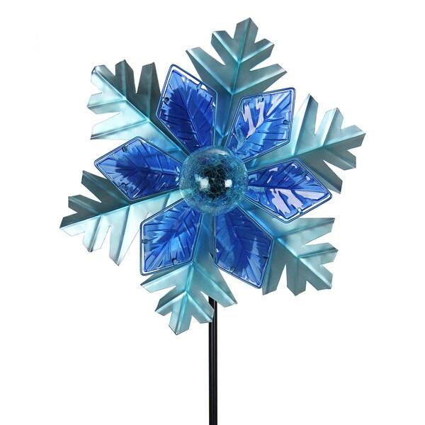 Shop Solar Kinetic Snowflake Christmas Garden Stake Free