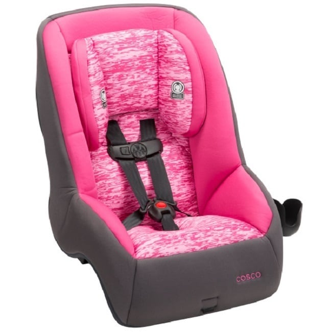 Pink Fabric Convertible Car Seat