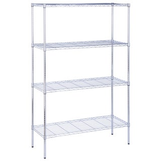 "Honey Can Do SHF-05226 18"" X 48"" X 72"" 350 Lb Capacity 4 Tier Chrome Shelf"