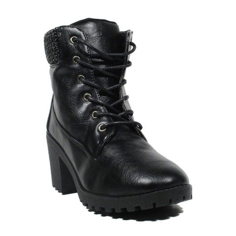 Blue Women`s Fancelia Black Synthetic Dress Fashion Boots