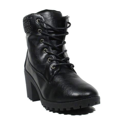 Blue Women`s Fancelia Black Synthetic Dress Fashion Boots