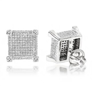 Luxurman 14k Gold 4/5ct TDW Diamond Stud Earrings