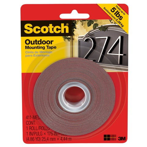 "3M 411-MED-DC-SF 1"" X 175"" Medium Outdoor Mounting Tape"