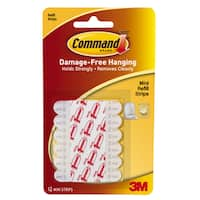 """Command Strips 17020 3/4"""" X 3"""" Replacement Command Strips"""