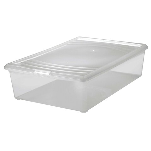 "Iris USA INC 101541 16-1/8"" X 24-3/16"" X 6-5/16"" Clear Plastic Modular Box"