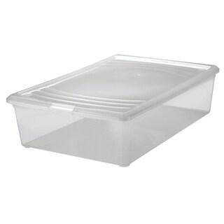 "Iris USA INC 101541 16-1/8"" X 24-3/16"" X 6-5/16"" Clear Plastic Modular Box"