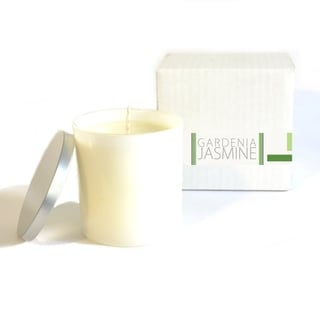Baxter Manor White Wax Gardenia Jasmine Candle in Glass Jar