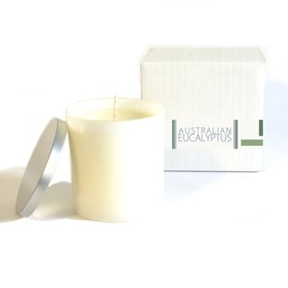 Angelo Home Baxter Manor White Glass Eucalyptus Candle