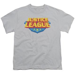 JLA/8 Bit Logo Short Sleeve Youth 18/1 in Silver