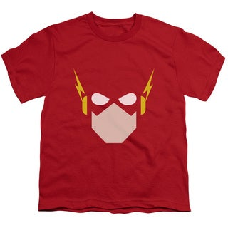 JLA/Flash Head Short Sleeve Youth 18/1 in Red