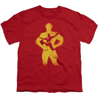 JLA/Flash Knockout Short Sleeve Youth 18/1 in Red